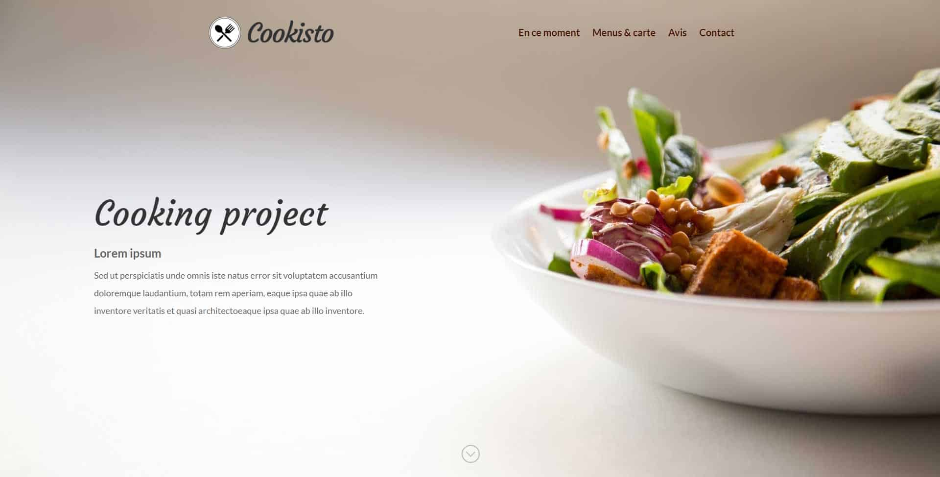 Site web cooking project