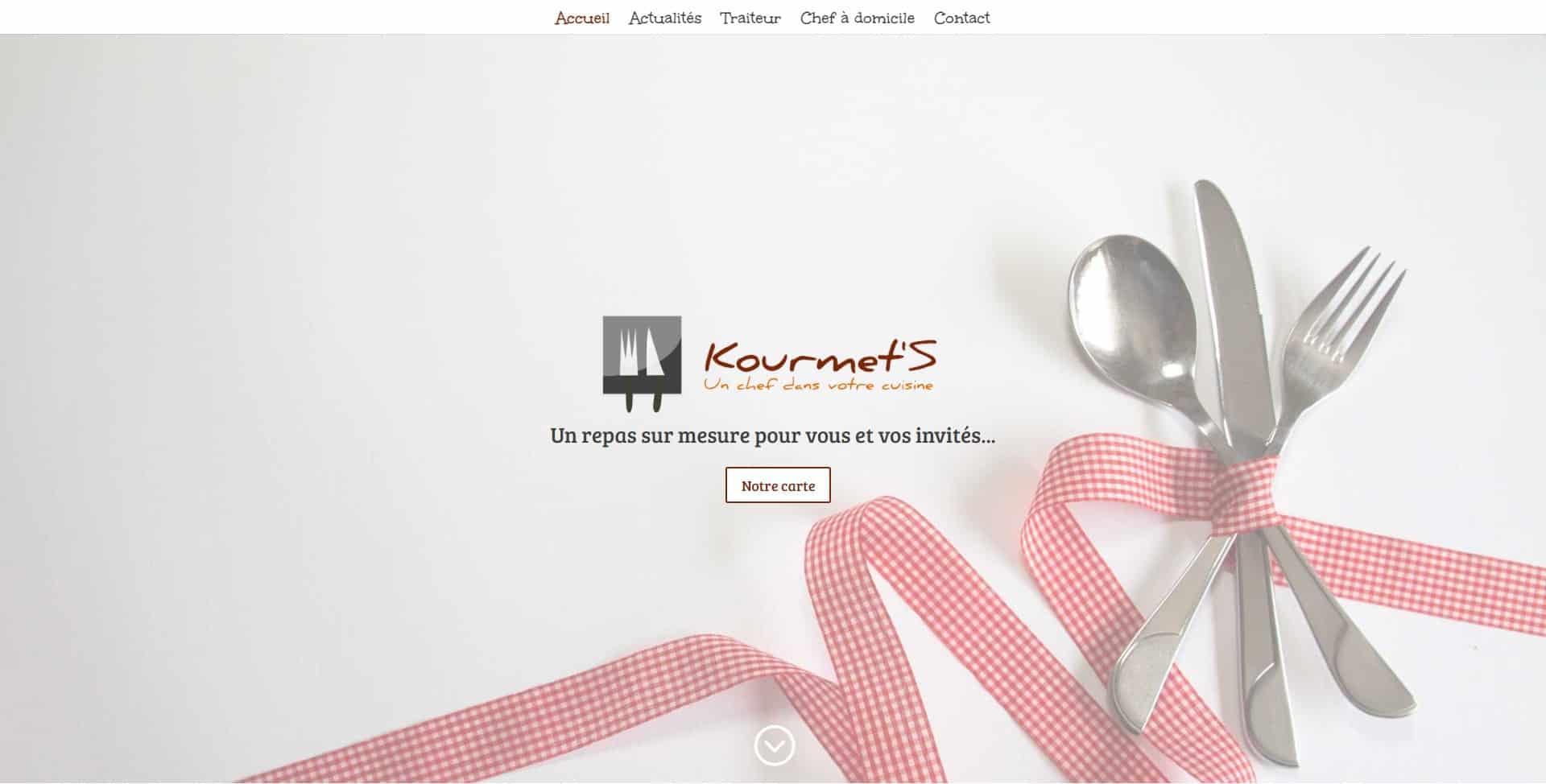Site web Kourmet'S