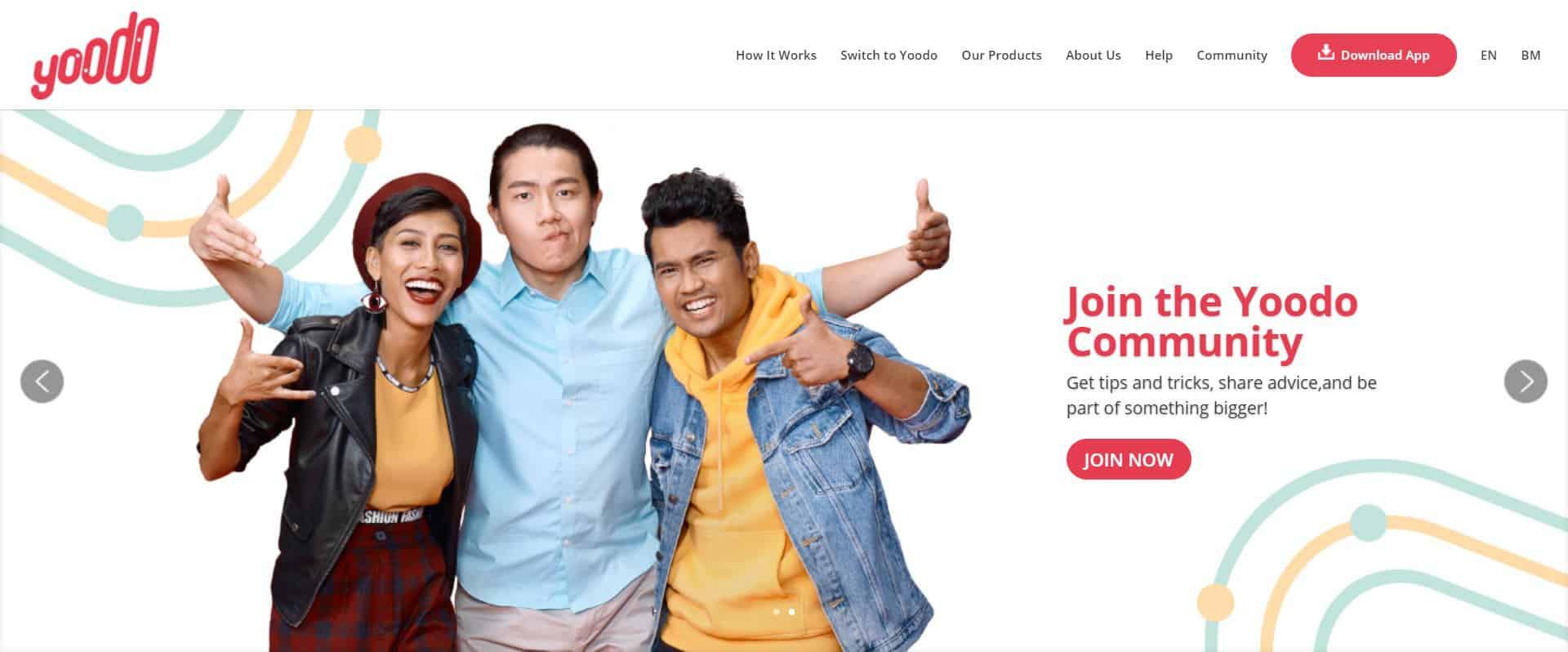 Site web opérateur mobile Malaisie