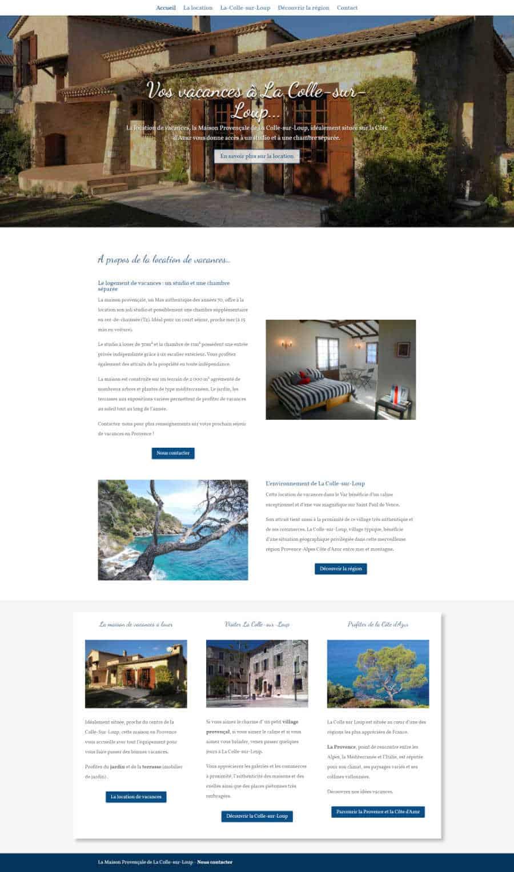 Maison Provencale de la Colle-sur-Loup site web page d'accueil