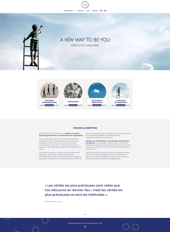 Ecole Aroma-Sciences site web page d'accueil